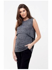 Ripe Black 'Swing Back' Nursing Tank (Large)