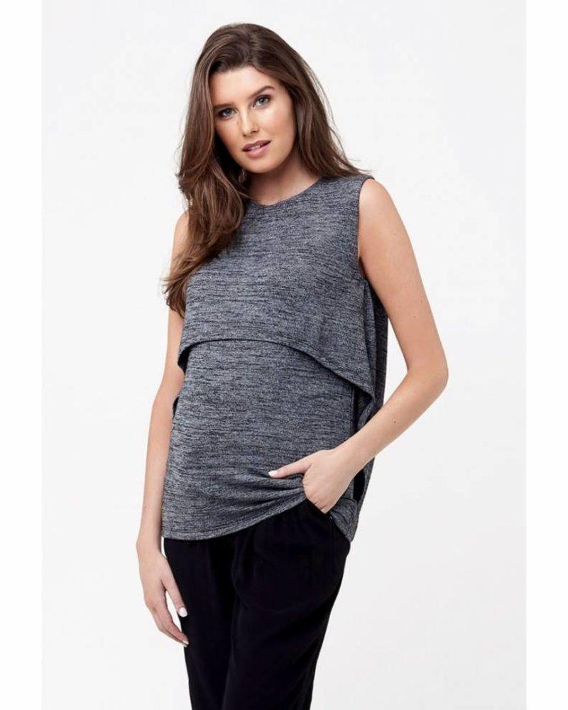 Ripe Ripe Maternity Black 'Swing Back' Nursing Tank (Large)