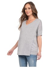Seraphine Maternity 'Gretchen' Layered Nursing Top (Large)