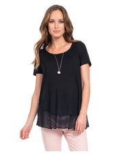 Seraphine Maternity Black 'Roxanne' Layer Nursing Top
