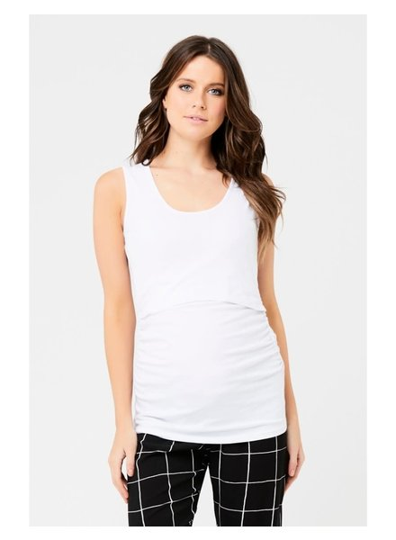 Ripe White 'Ali' Up/Down Nursing Tank (Large) **FINAL SALE**