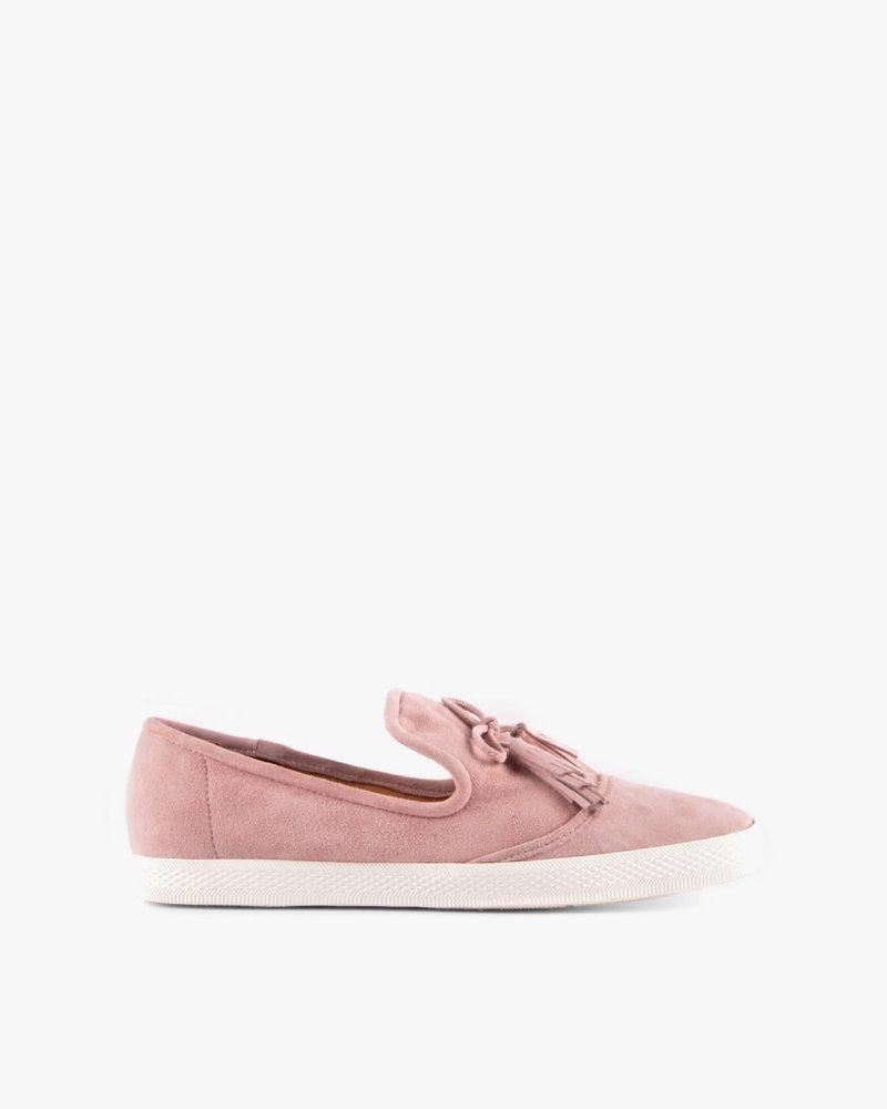 All Black All Black Pink Tassel Sneaker