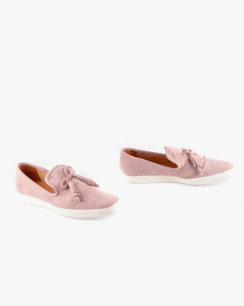 All Black All Black Pink Tassel Sneaker **FINAL SALE**