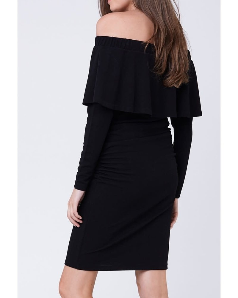 Ripe Ripe Maternity 'Soiree' Long Sleeve Off Shoulder Dress