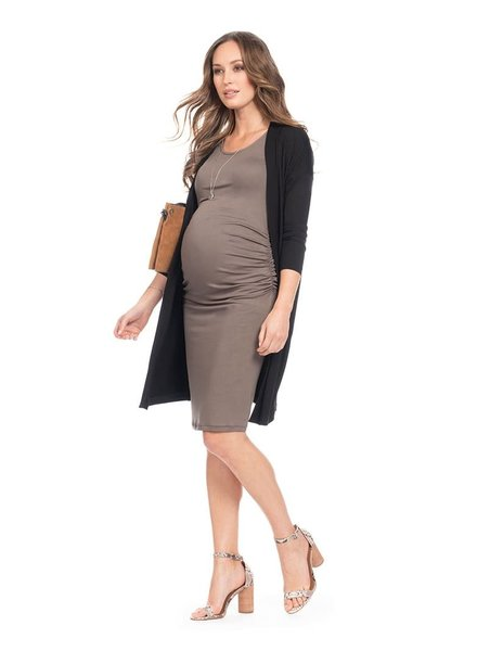 Seraphine Maternity 'Clarabelle' 2-In-1 Bodycon Dress with Cardigan