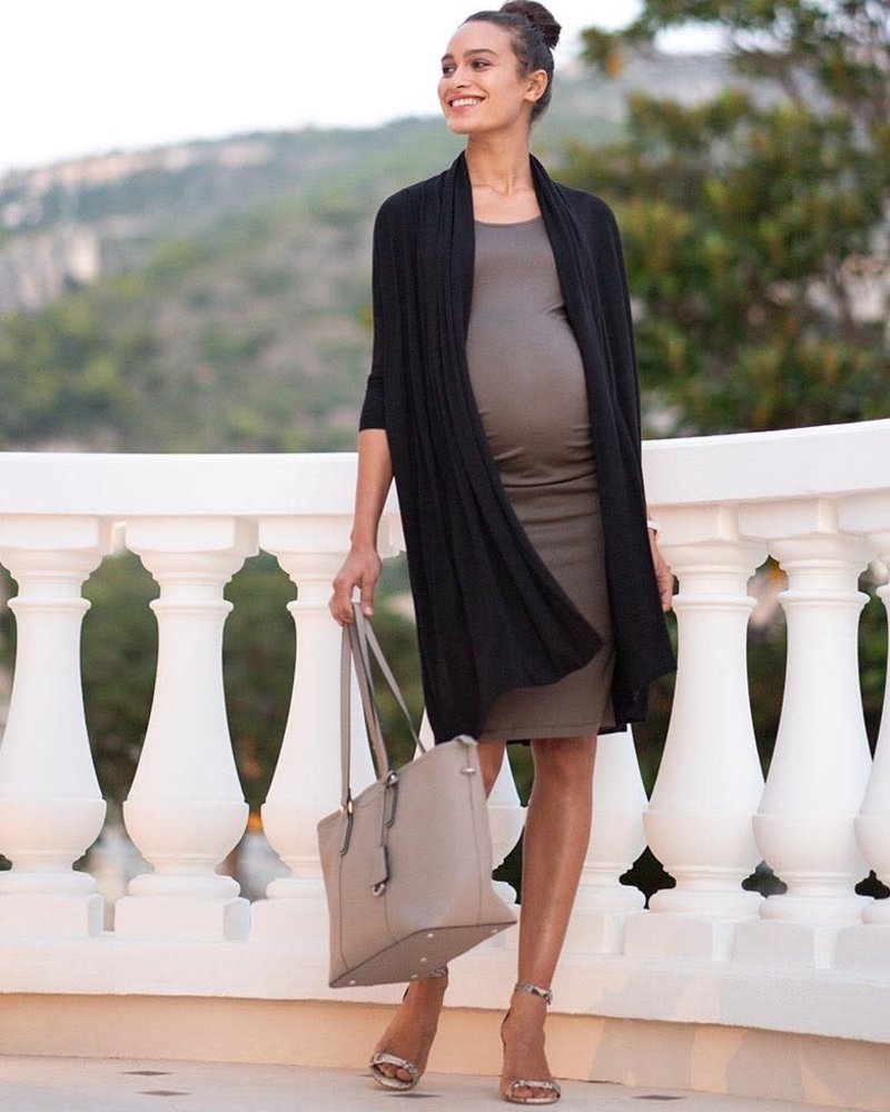 Seraphine Maternity Seraphine Maternity 'Clarabelle' 2-In-1 Bodycon Dress with Cardigan