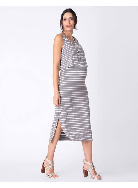 Seraphine Maternity 'Claudette' Nursing Midi Dress