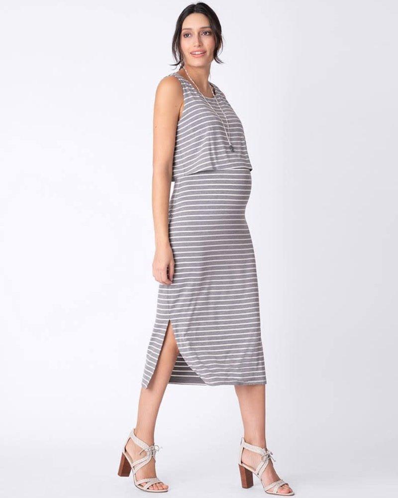 Seraphine Maternity Seraphine Maternity 'Claudette' Nursing Midi Dress