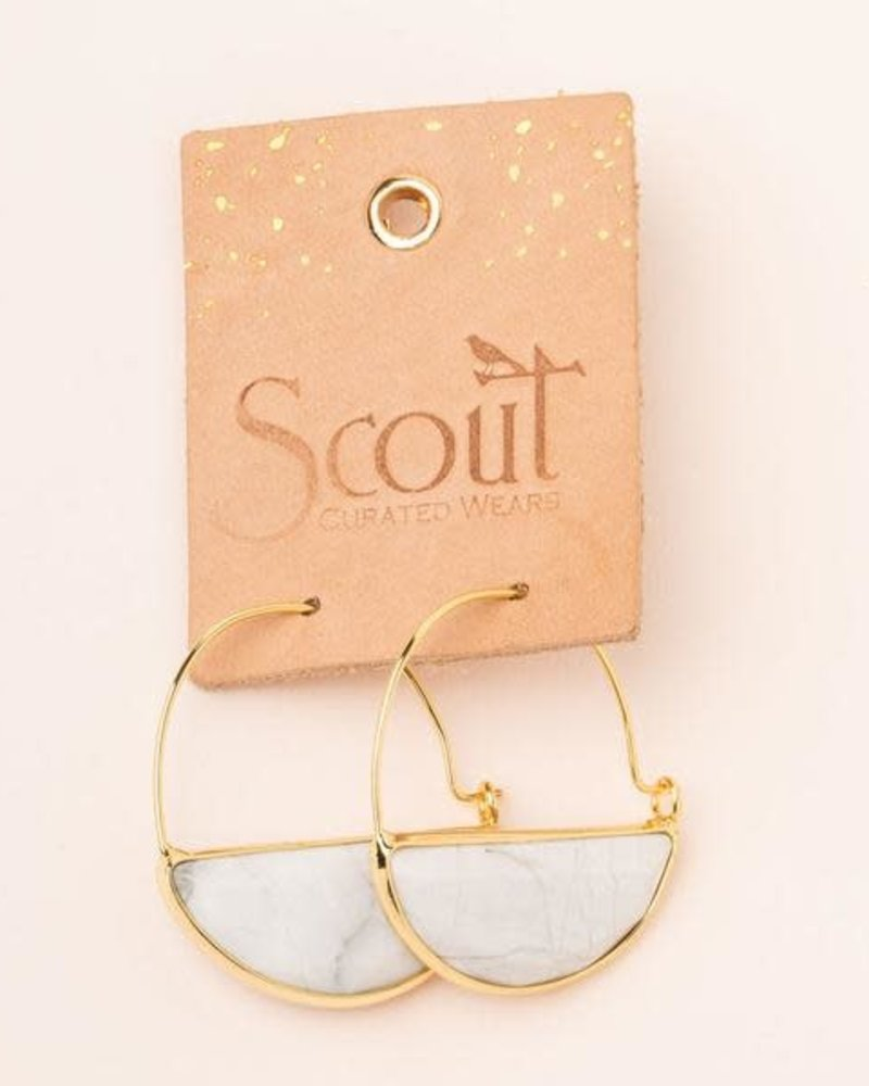 Scout Curated Wears Scout Rose Quartz & Gold Stone Prism Hoop Earrings