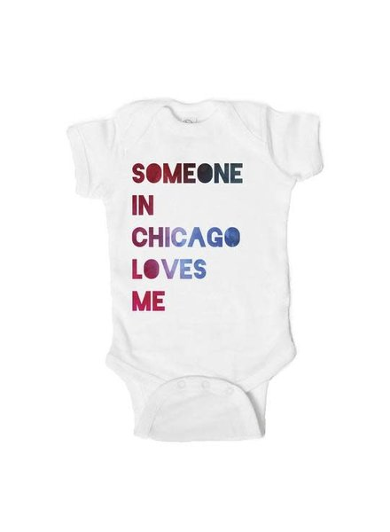 Emerson & Friends Short Sleeve 'Someone in Chicago Loves Me' Onesie