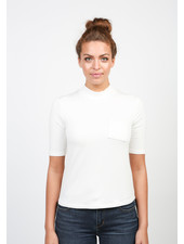 Articles of Society White 'The Parisian' Baby Turtleneck Tee