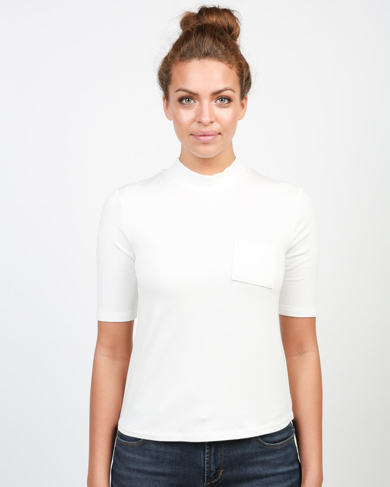 Articles of Society Articles of Society Cream 'The Parisian' Baby Turtleneck Tee