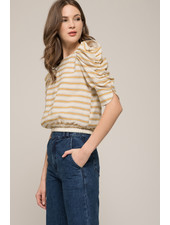 Moon River 'Backside Surprise' Puff Sleeve Top