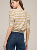Moon River Moon River 'Backside Surprise' Puff Sleeve Top