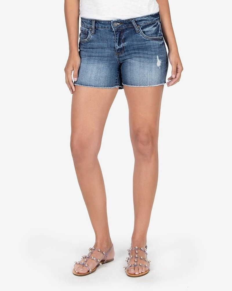 Kut from the Kloth Kut from the Kloth 'Gidget' Frayed Shorts in Openminded (Size 8) **FINAL SALE**