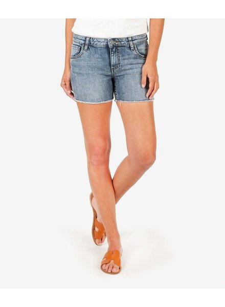 Kut from the Kloth 'Gidget' Frayed Shorts in Reflective