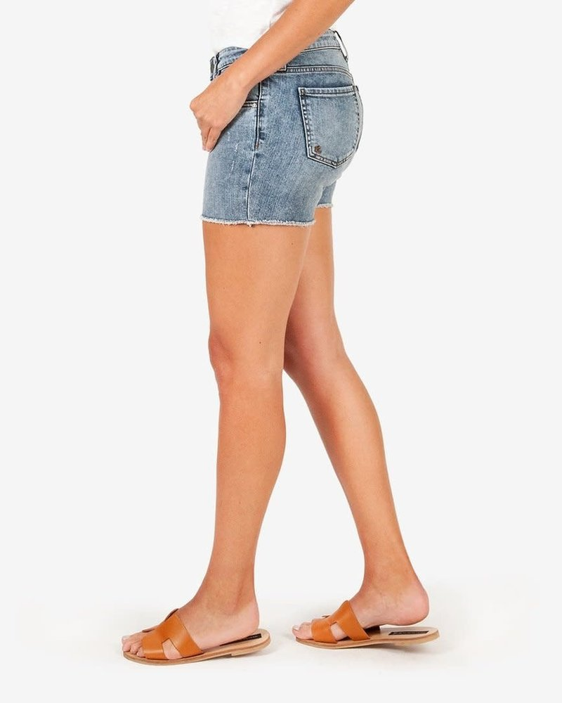 Kut from the Kloth Kut from the Kloth 'Gidget' Frayed Shorts in Reflective (Size 2) **FINAL SALE**