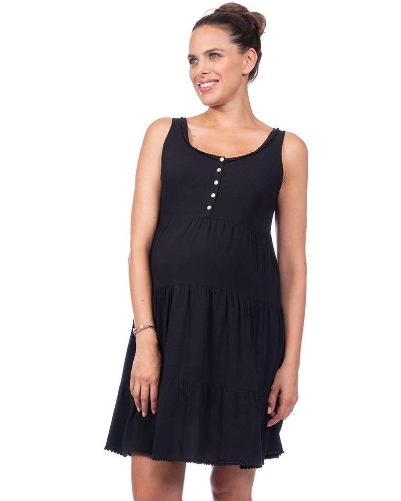 4a520f3a27673 Seraphine Maternity Seraphine Maternity 'Victoria' Sleeveless Tiered Nursing  Dress ...