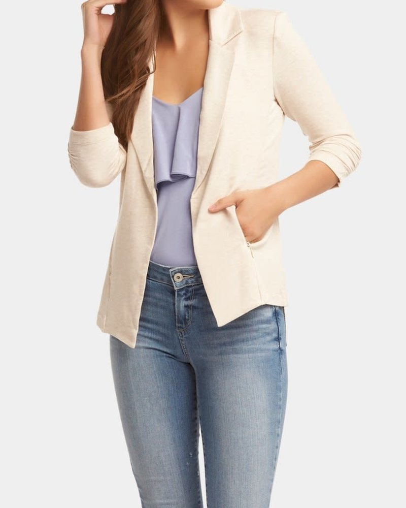 Tart Collections Tart Collections Heathered Oatmeal 'Nicki' Blazer (Medium) **FINAL SALE**