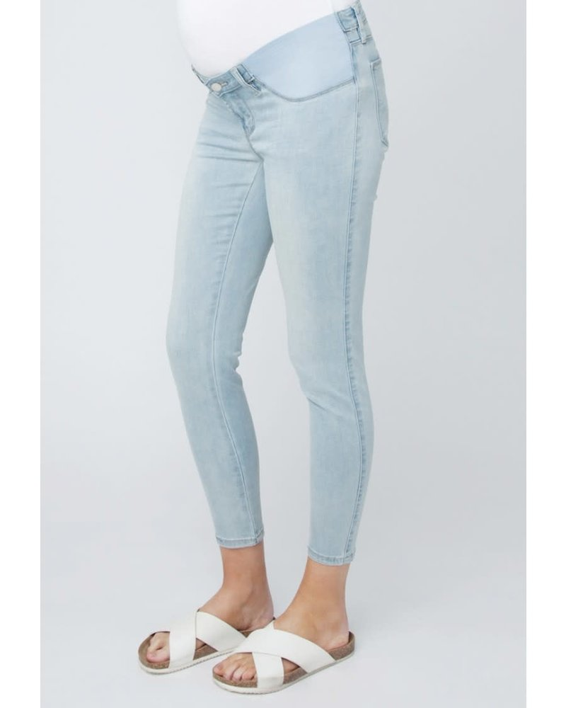 Ripe Ripe Maternity 'Isla' Ankle Grazer Jegging in Clean Fade