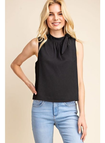 Gilli Black 'Two Snaps' Side Tie Top **FINAL SALE**