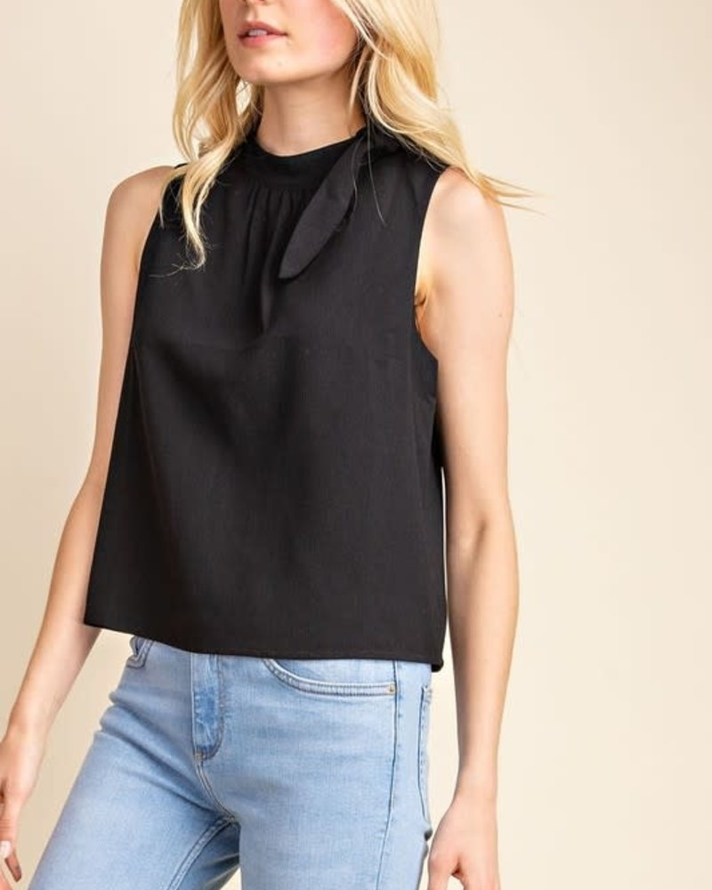 Gilli Gilli Black 'Two Snaps' Side Tie Top **FINAL SALE**