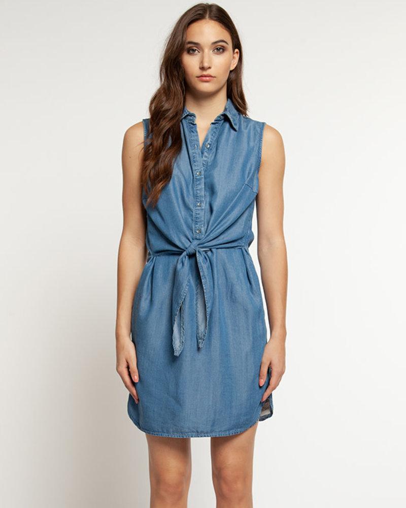 Dex Dex 'Blue Wash' Belted Dress (Extra Small) **FINAL SALE**