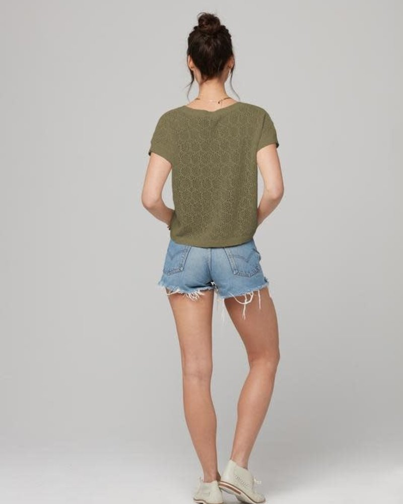 Knot Sisters Knot Sisters 'Kai' Sweater Knit Tee **FINAL SALE**