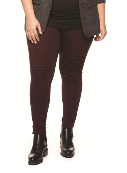 Dex Plus 'Cherise' Moto Legging