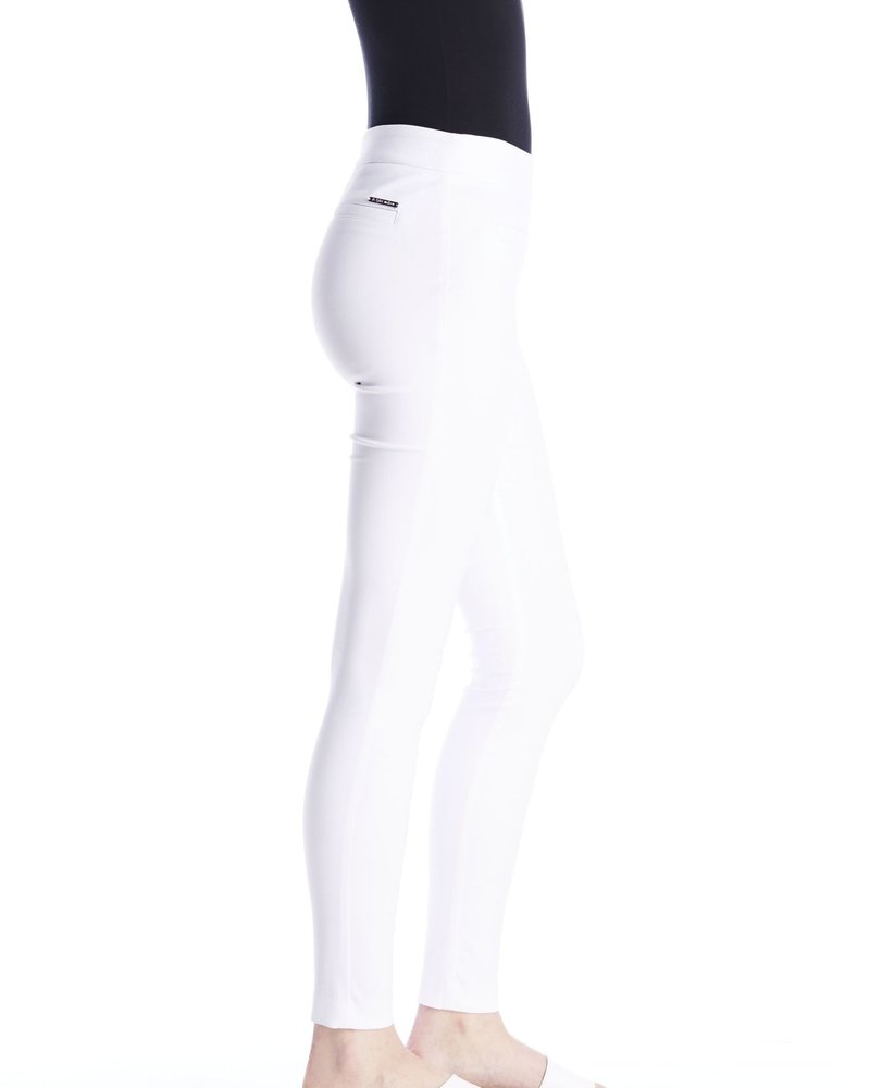 I Love Tyler Madison I Love Tyler Madison White 'Mara Twill' Cavalli Basic Pant **FINAL SALE**