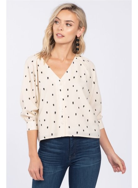Everly 'Print The Dot' Top