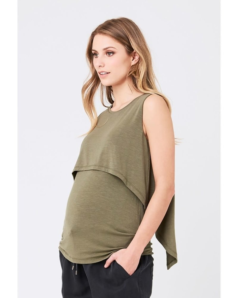 Ripe Ripe Maternity Olive Summer 'Swing Back' Nursing Tank (Large)