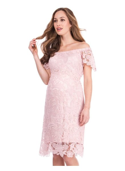 Seraphine Maternity 'Isidora' Off Shoulder Lace Dress (Size 4) **FINAL SALE**