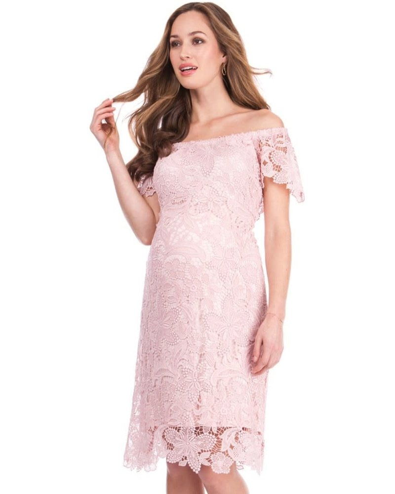 Seraphine Maternity Seraphine Maternity Isidora Off Shoulder Lace Dress Size 4 Final Sale