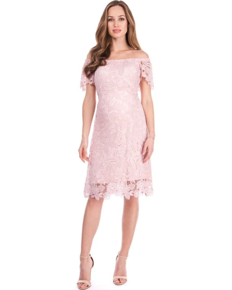 Seraphine Maternity Seraphine Maternity 'Isidora' Off Shoulder Lace Dress (Size 4) **FINAL SALE**