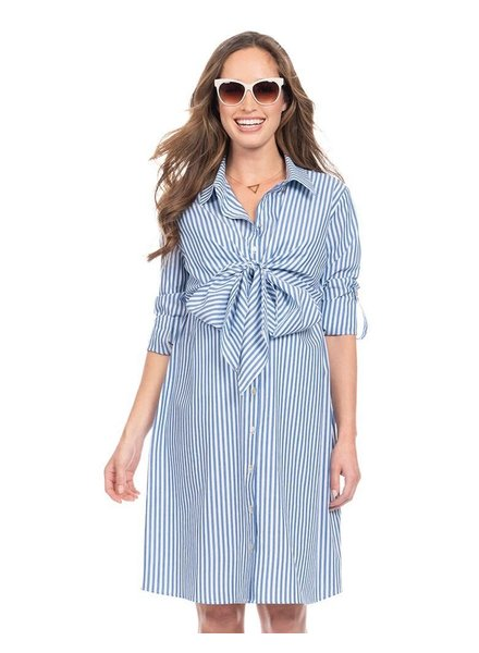 Seraphine Maternity 'Ariadne' Pinstripe Shirt Nursing Dress **FINAL SALE**