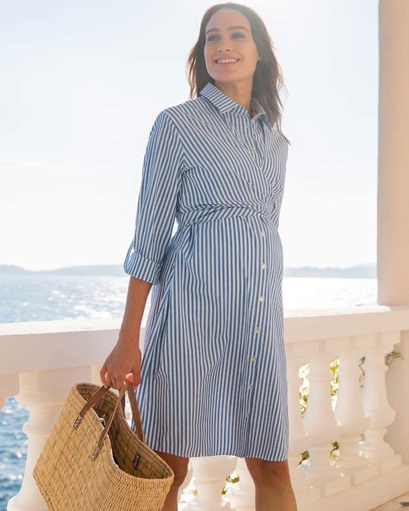 Seraphine Maternity Seraphine Maternity 'Ariadne' Pinstripe Shirt Nursing Dress **FINAL SALE**