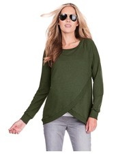 Seraphine Maternity Olive 'Sybil' Front Wrap Sweatshirt