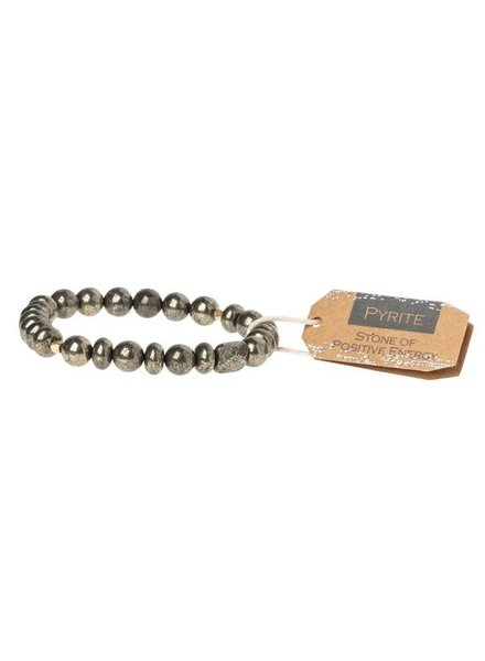 Scout Curated Wears Pyrite Stone Stacking Bracelet