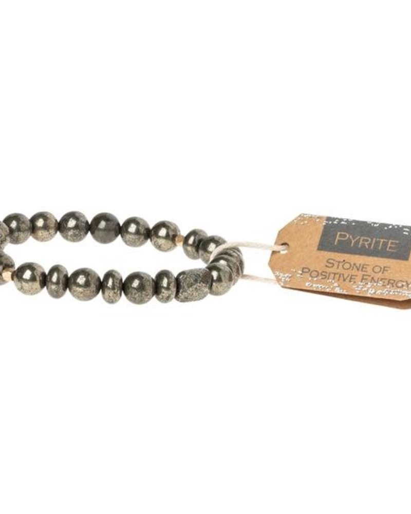 Scout Curated Wears Scout Pyrite Stone Stacking Bracelet