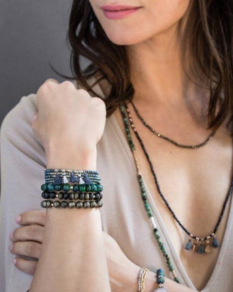 Scout Curated Wears Scout Obsidian Stone Stacking Bracelet