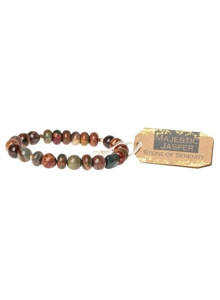 Scout Curated Wears Majestic Jasper Stone Stacking Bracelet