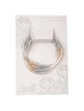 Scout Curated Wears Mist Combo & Silver Original Wrap Bracelet/Necklace
