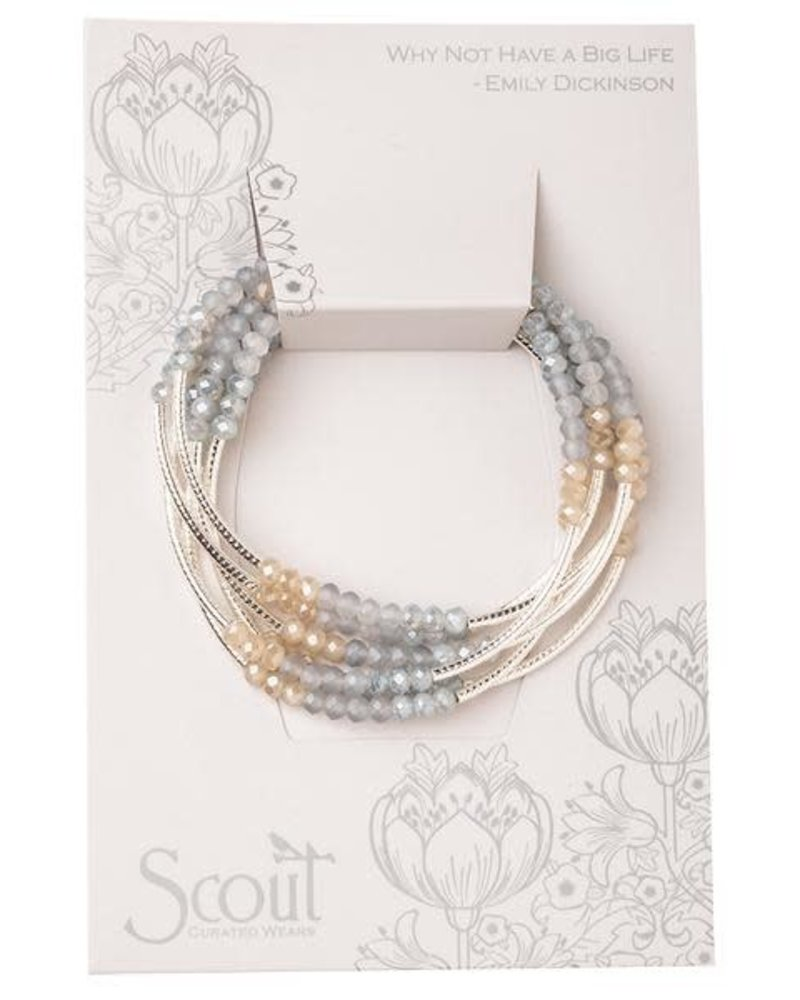 Scout Curated Wears Scout Mist Combo & Silver Original Wrap Bracelet/Necklace