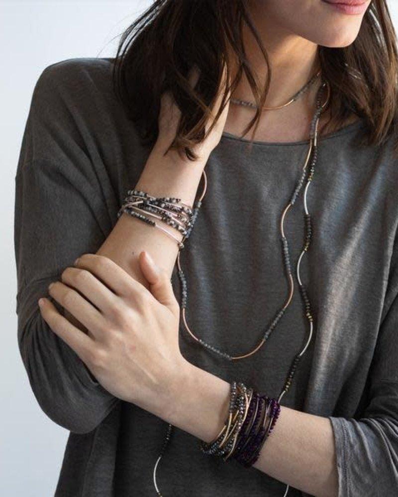 Scout Curated Wears Scout Dahlia & Hematite Original Wrap Bracelet/Necklace