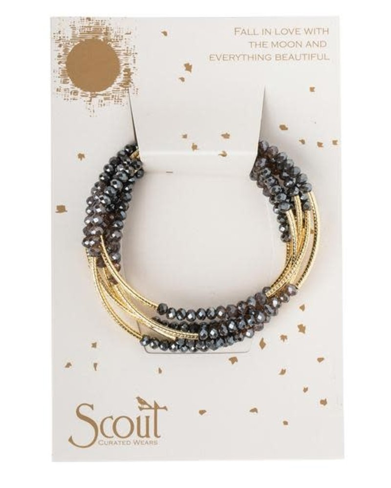 Scout Curated Wears Scout Shadow & Gold Original Wrap Bracelet/Necklace