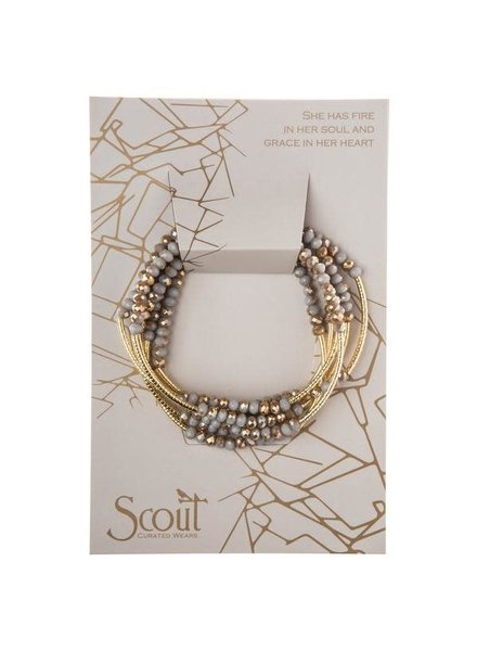 Scout Curated Wears Silver Lining & Gold Original Wrap Bracelet/Necklace