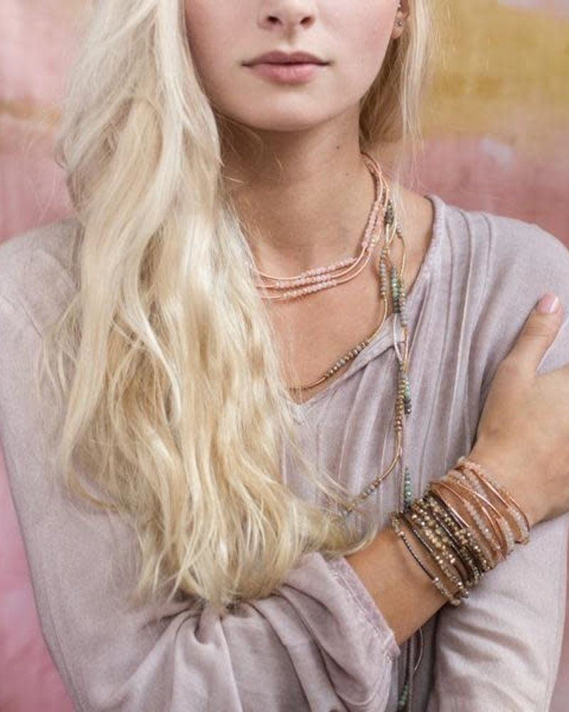 Scout Curated Wears Scout Shell & Rose Gold Original Wrap Bracelet/Necklace