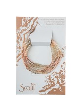 Scout Curated Wears Shell & Rose Gold Original Wrap Bracelet/Necklace