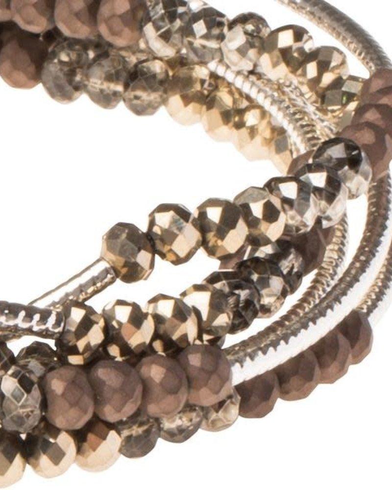 Scout Curated Wears Scout Metallic Tri-Tone & Silver Original Wrap Bracelet/Necklace